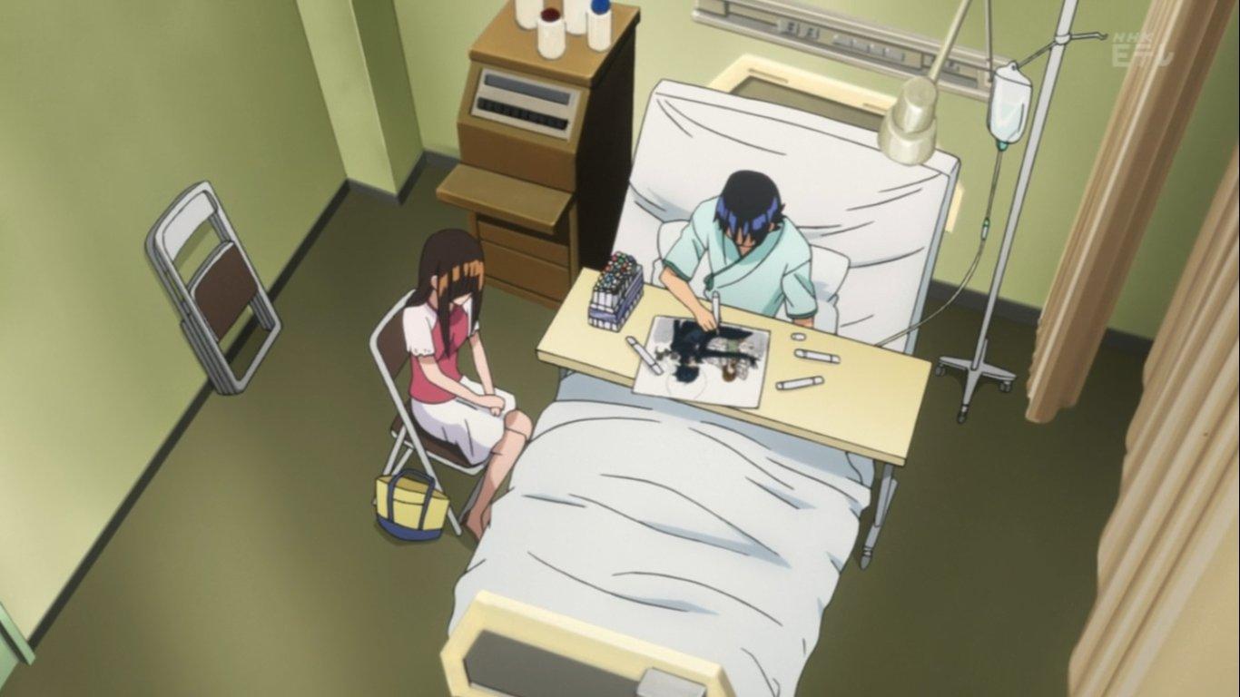 Kết quả hình ảnh cho Moritaka Mashiro in hospital